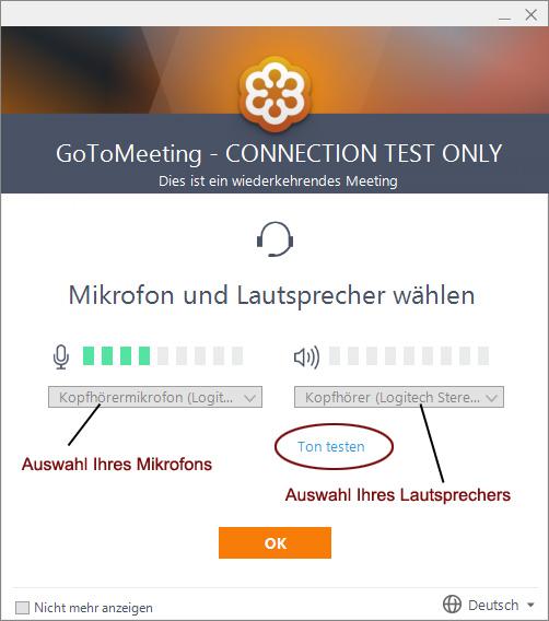 Zugangstest - Ton testen